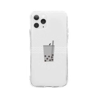 今日もタピる? Soft clear smartphone cases