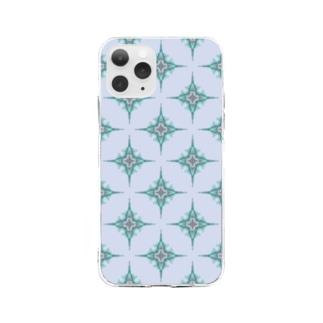 総柄ケータイカバー Soft clear smartphone cases
