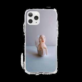 不思議の森のおトイレ中のソフトクリアスマホケース Soft clear smartphone cases