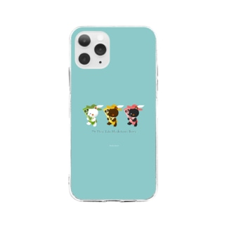 チューブ三銃士 Soft clear smartphone cases