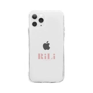 ロゴピンク Soft clear smartphone cases