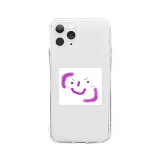かぎかっこにこにこ君 Soft clear smartphone cases
