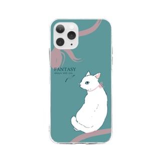 non.FuLFiLLの見返り美人 Soft clear smartphone cases