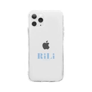 ロゴブルー Soft clear smartphone cases