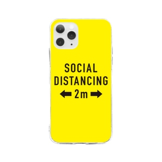 SOCIAL  DISTANCING Soft clear smartphone cases