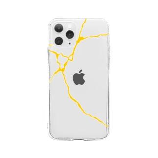 kintsugi line Soft clear smartphone cases