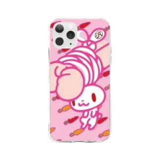 【各20点限定】汎用うさぎ(1/pink) Soft clear smartphone cases