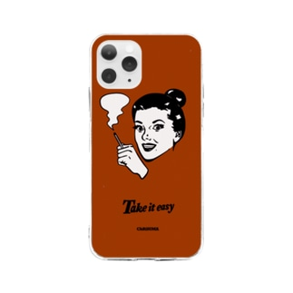 Cigarette Lady  Soft clear smartphone cases
