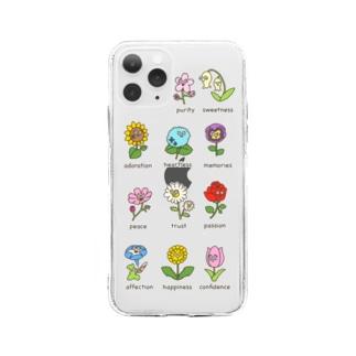 花言葉図鑑💐 Soft clear smartphone cases