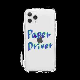 ちるまの店のペーパードライバー専用 Soft clear smartphone cases