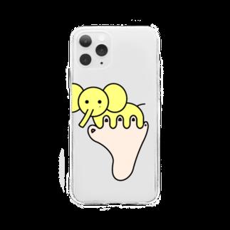あしゆびふれんずのあしゆびぞう Soft clear smartphone cases