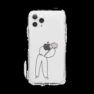 笑う君のワタシちゃん Soft clear smartphone cases