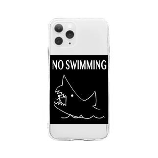 遊泳禁止 Soft clear smartphone cases