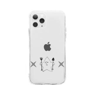 kashikichi ほしきち 星 キャラクター ブサカワ おもしろ スター Soft clear smartphone cases