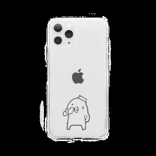 サウナ水風呂好きのぴよ🐤♨️のサウナ上がりのぴよ🐤 Soft clear smartphone cases