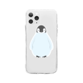 ぺんぎんのヒナ Soft clear smartphone cases