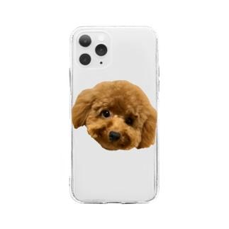まんまるメルちゃん大優勝 Soft clear smartphone cases
