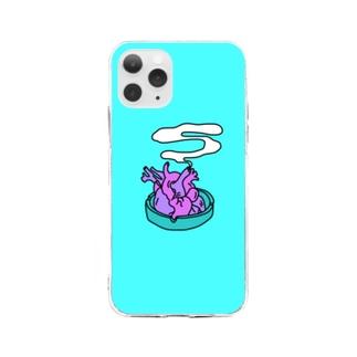 바우-vAw-のヘビースモーカー Soft clear smartphone cases