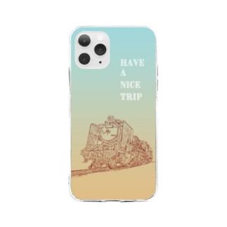 良い旅を! by 蒸気機関車 Soft Clear Smartphone Case