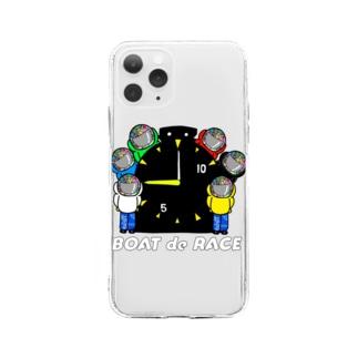 #ボートレーサーくん 大集合 Soft clear smartphone cases