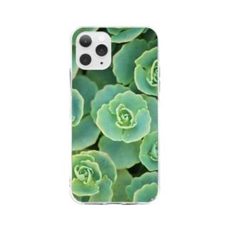 多肉植物 Soft Clear Smartphone Case