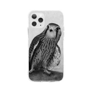 チョウゲンボウ(★寄付) Soft clear smartphone cases
