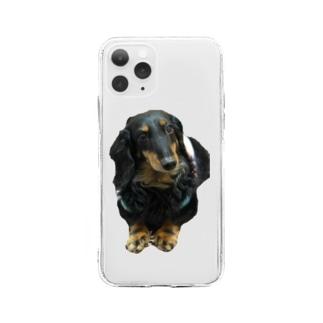 愛犬ブルくん Soft clear smartphone cases