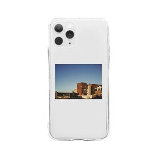 フォト/オランダ風景1 Soft clear smartphone cases