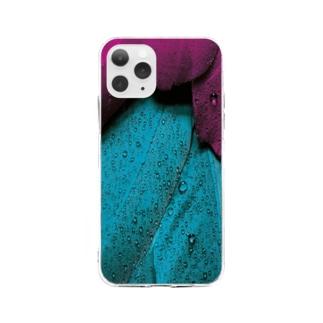 ブルーパープル翼 Soft clear smartphone cases