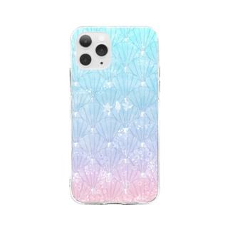 貝殻拾いケース Soft clear smartphone cases
