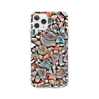 Tabbiesの貝殻ぎっしり Soft clear smartphone cases