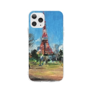 in Tokyotower Soft clear smartphone cases