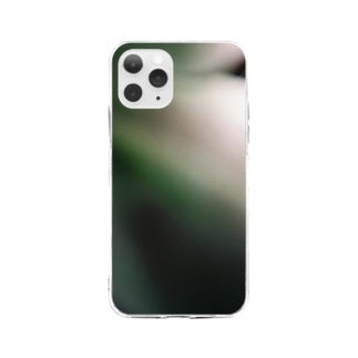 Vague green Soft clear smartphone cases