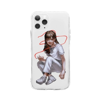 iPhoneイレブン用 Soft clear smartphone cases