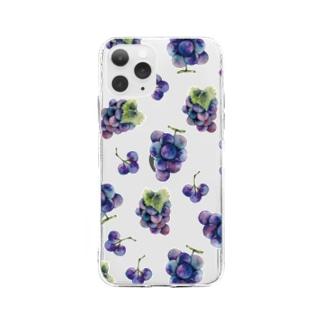 ぶどう Soft clear smartphone cases