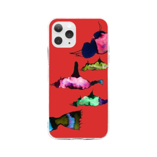 saoliicaの雲魚 Soft clear smartphone cases