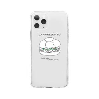 ランプレドットイラスト Soft clear smartphone cases