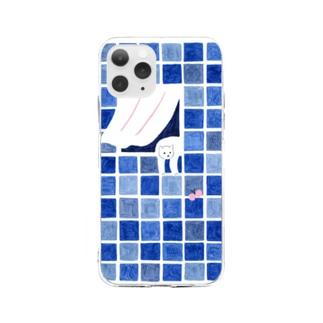 窓辺のねこちゃん Soft clear smartphone cases