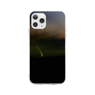荒ぶる夕やけ 夏 Soft clear smartphone cases