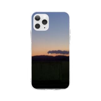 ぼやっと夕やけ Soft clear smartphone cases