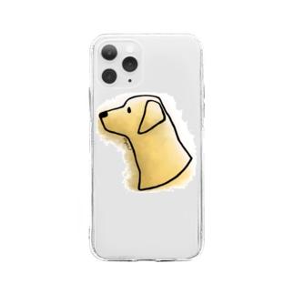 ラブラドール・レトリーバー〈水彩・滲み風〉 Soft clear smartphone cases