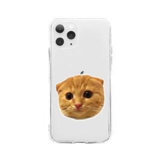 インゲン☆猫 Soft clear smartphone cases
