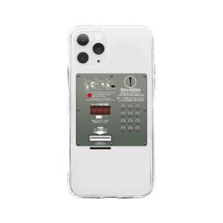 公衆電話 Soft clear smartphone cases