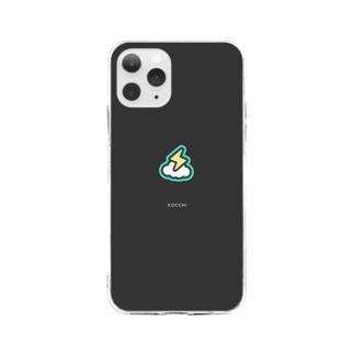こっちのソフトクリア(黒) Soft clear smartphone cases