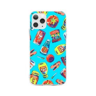 zensen3のサイケレトロのスマホケース Soft clear smartphone cases