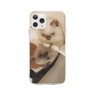 鏡のもなか Soft clear smartphone cases