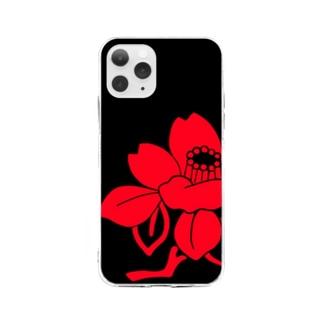 ソフトスマホケース 椿 Soft clear smartphone cases