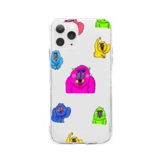 マンドリルだらけ Soft clear smartphone cases