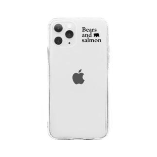 黒のロゴ Soft clear smartphone cases