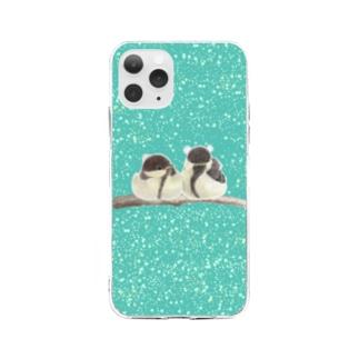雛シジュウカラさん Soft clear smartphone cases